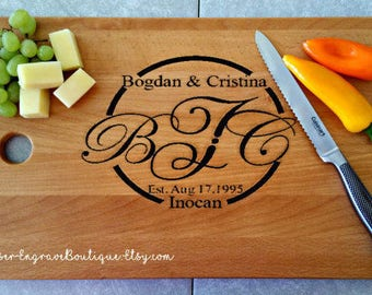 Engraved Cutting Board,Gift For Couple,Mother's Day Gift,Wedding Gift,Cutting Board Personalized,Engraved Gift,Custom Personalized Gift