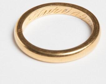 Thick Gold Wedding Band 20 Karat Gold