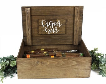 Cigar Bar Sign Display Box Cigars not included
