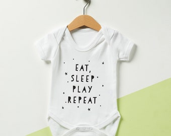 Eat, Sleep, Play, Repeat Babygrow