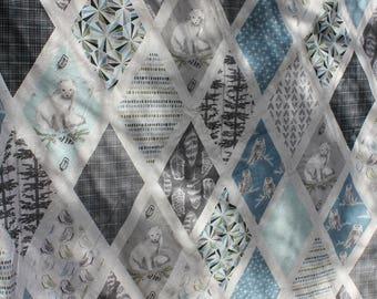 Ice Blue Arctic Fox Faux Fur Blanket // Baby Blanket // Toddler Blanket // Soft Blanket // Baby Shower Gift // Snuggle Blanket
