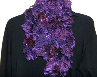 Sashay Scarf, Crocheted Scarf, Ruffled Scarf, Fabric Scarf, Infinity Scarf, Knitted Scarf, Scarves