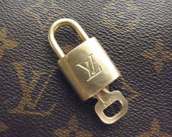 Authentic Louis Vuitton Brass Lock and Key #313