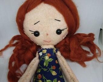 Textile Handmade Felt plush fabric art doll