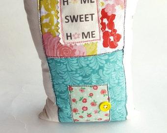 Home Sweet Home Bookend Art Sculpture Pillow Home Pillow Spring Applique House Pillow Book End Shelf Sitter Novelty Pillow 3-D Art
