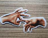 Fingers Sticker, 100% Waterproof Vinyl Sticker, Pop Culture Sticker