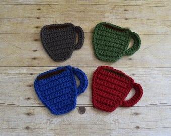 Cup Coaster - Mug Rug - Drink Coasters - Coffee Cup - Coasters - Drink Coasters - Coffee Cup Coaster