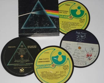 PINK FLOYD Coasters for drinks, vinyl record coaster set