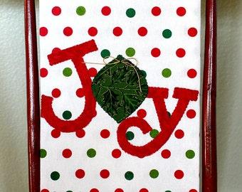 Christmas Kitchen Towel, Joy Towel, Christmas Tea Towel, Hostess Gift, Christmas Decor