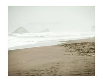 San Francisco Beach Photo, Travel Photography, Ocean Beach in Autumn, Bright and Peaceful