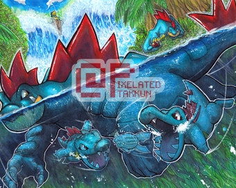 Poke Days: Totodile Family