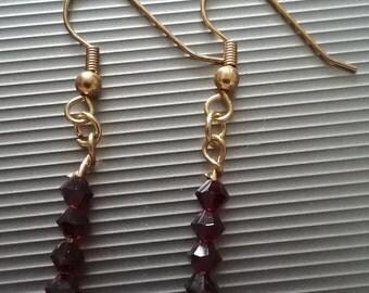 Red Beaded Earrings 1