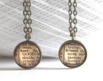 Best Friends Necklace Set Personalized Word Customized Jewelry Gift for Friend Custom Friendship Jewelry Personalized Necklace