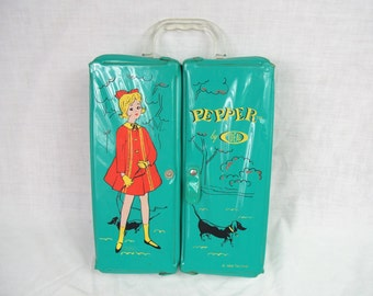 Vintage 1960s Pepper Doll Case by Ideal toy carrying case vinyl storage box