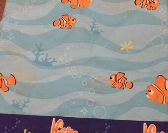 Twin Size Finding Nemo Fabric/Sheet