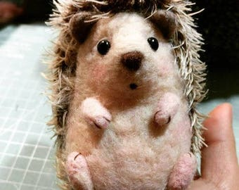 OOAK Wool Felted Hedgehog - Limited Edition - (Made to Order)