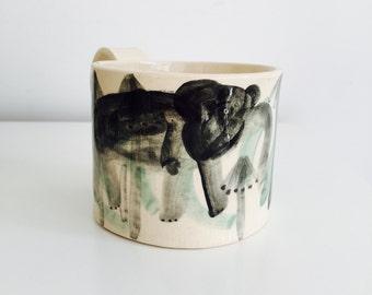 Curious elephant mug