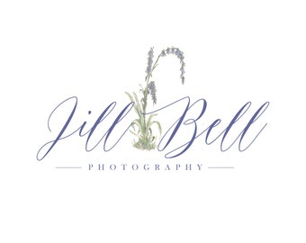 Hand drawn sketched botanical flower Logo - Photography Logo and Watermark Design - Photography or Boutique Logo  - Business Branding