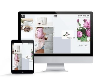 Showit 5 Template - Showit Website Template for Photographers - Instant Download - September Showit Website Template