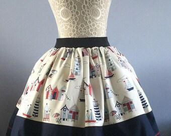 Ladies or girls Seaside full skirt