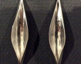 Open Pod Earrings in Sterling Silver