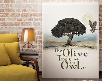 Custom Illustration - Olive Tree Artwork - Custom Drawing