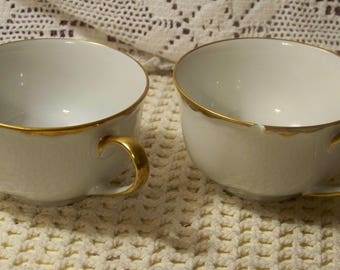 Hutschenreuther Selb 22K Gold Trimmed Cups - Pair