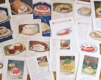 1925-1931 Vintage Paper 18 Pages from Recipe Books Booklets Colorful Detailed Images Recipes Cooking Kitchen Decor Paper Arts & Crafts