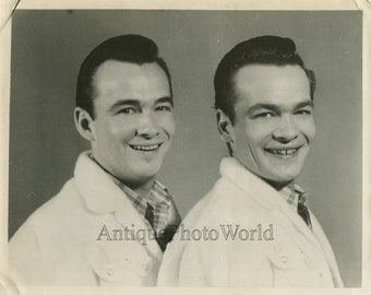 Handsome Wilburn brothers country singer vintage photo