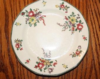 Vintage Royal Doulton Leeds-Spray Dessert Plate Made In England