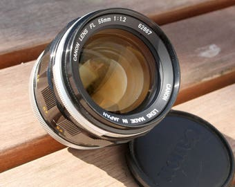 Vintage Canon FL 55mm f/1.2 35mm SLR Film Camera Lens