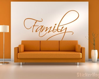 """Family Vinyl Wall Writing Decal Graphic 30""""x20"""" Home Decor"""
