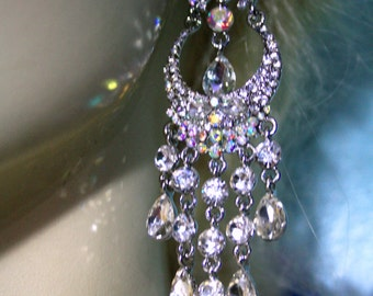 Vintage crown trifari austrian crystal necklace and earrings - Drag Queen Etsy