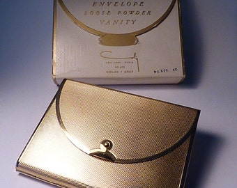 Unused compacts Coty ENVELOPE compact new old stock NOS novelty powder compacts BOOK piece compact mirrors something old gifts