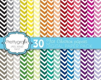 80% OFF SALE fat chevron digital paper, commercial use, scrapbook papers, background  - PS585