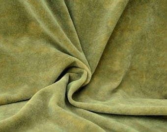 """Hand-dyed Velvet - Celery Green - Fat Eighth 17"""" x 10"""""""