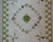 Shades of Green and Gray Baby Quilt