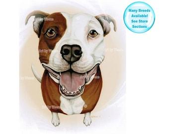 Pit Bull - Pit Bull Art - Pit Bull Terrier - Pitbull - Dog Portrait - Pit Bull Portrait - Pitbulls - Pet Portrait - Pit Bull Painting