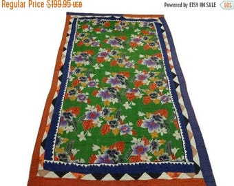 Sale Vintage Meticulously Hand Crafted Uber Soft Cotton Afghan Refugee Patchwork Ralli Quilt Circa 1970 or earlier