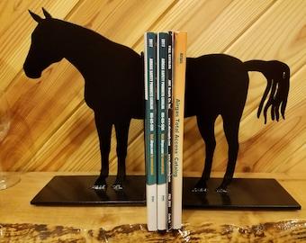 Metal Western Black Horse Bookends