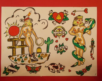 Traditional Tattoo Flash Painting