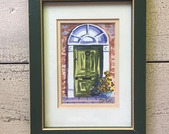 Vintage Watercolor Painting ... Free Shipping...15% Off...March 22-29