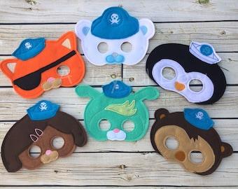 Octo animal inspired dress up and birthday party favor masks, octonauts birthday, octonauts gifts, octonauts, octonaut party