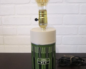 Green Thermos Lamp