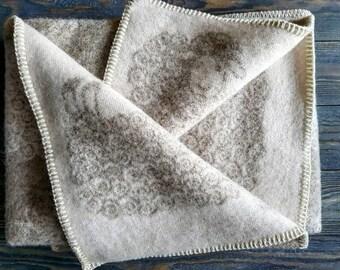 natural wool baby blanket 90x130cm woolen throw with sheeps pure wool organic wool