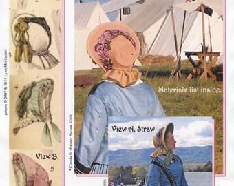 Ladies' U.S. Civil War Period Bonnet Circa 1860's - Lynn McMasters Sewing Pattern # 41