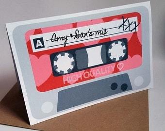 Personalised Love Mixtape Card
