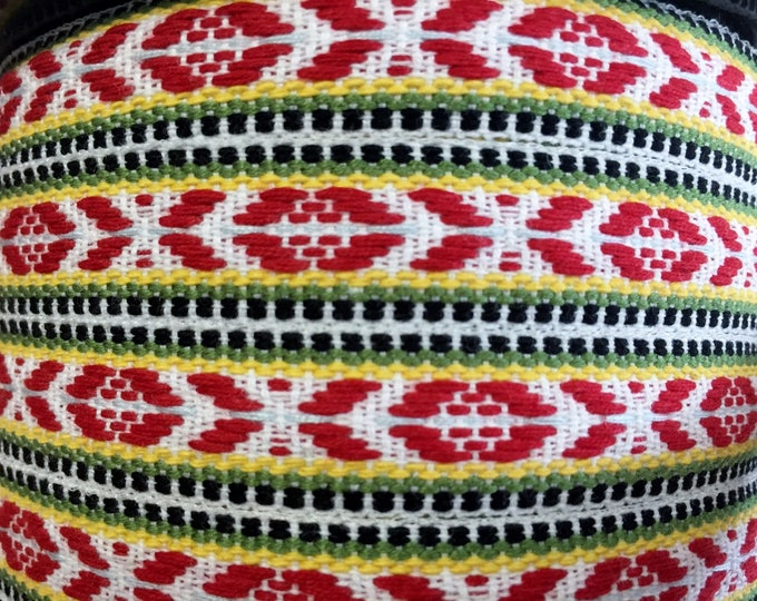 Scandinavian Ribbon Trim Hand Woven Swedish Folk Art