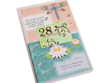 The 28 Days of Thanks Gratitude Note Card kit with envelopes Write one thank you note a day to be more Grateful