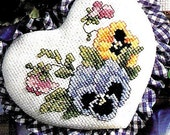 Leisure Arts Heartfelt Welcome Counted Cross Stitch Pattern Charted Design Rare Out of Print Floral Heart Designs Welcome To Our Home